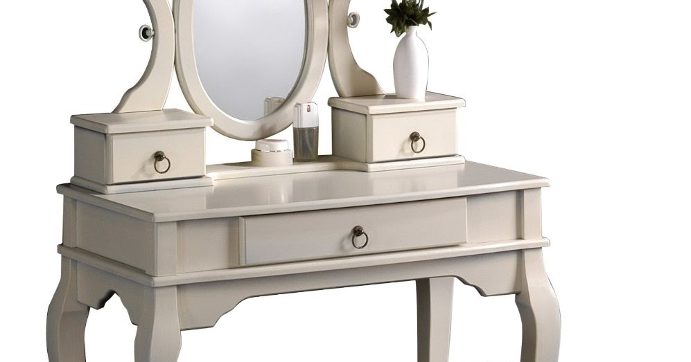 Vanity Tables With Oval Mirror Antique White Vanity Set