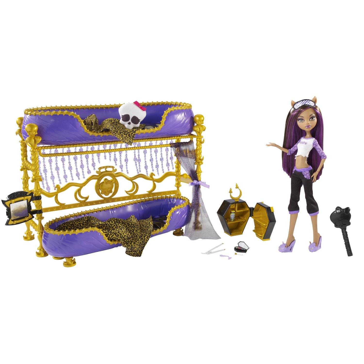 monster high pretty monster high cama de clawden wolf. Black Bedroom Furniture Sets. Home Design Ideas