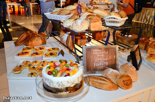 Freshly made pastries and cakes.