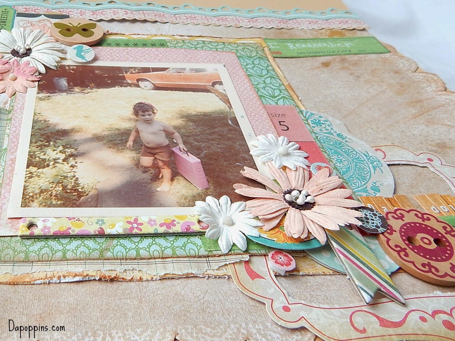 scrapbook, old photos, Dapoppins,