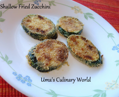 shallow fried Zucchini