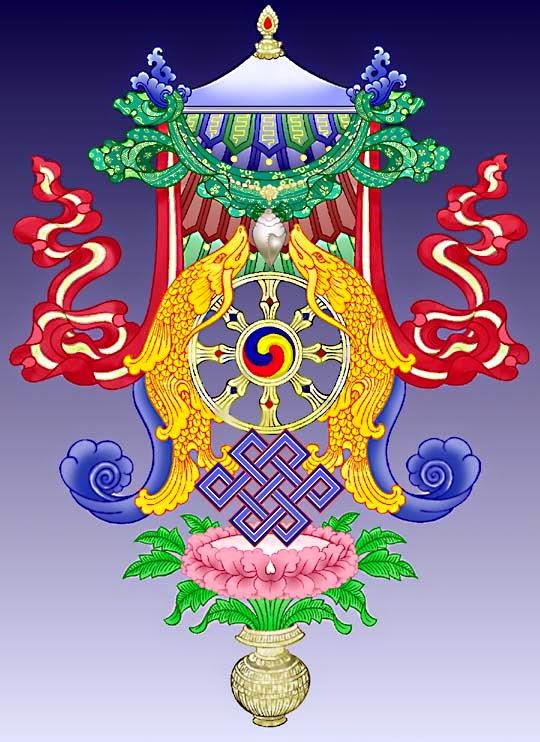 """Los Ocho Signos Auspiciosos Tibetanos """"El Cuerpo del Buda"""" Mandala%2Bde%2B8%2Bsignos%2Bauspiciosos"""