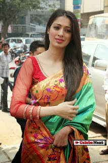 Actress Lakshmi Rai Pictures in Saree at Shree Nikethan Show Room Launch  0004.jpg