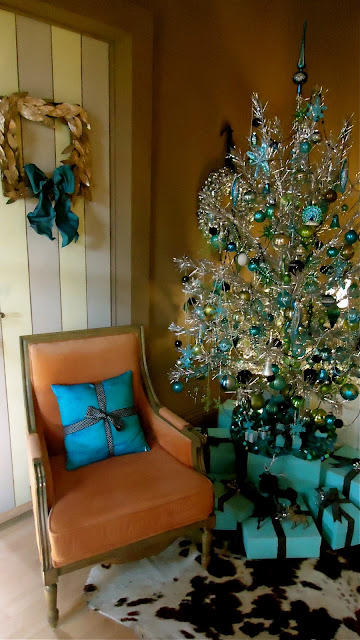 Tiffany Blue Christmas Tree Ornaments