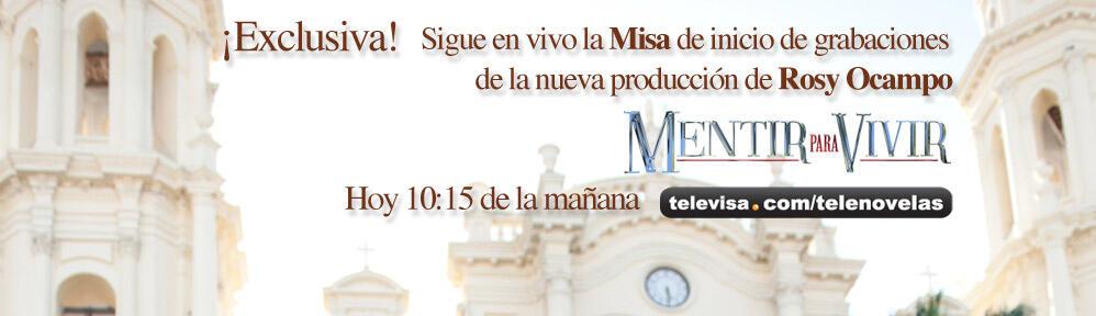 Logo de ¨Mentir para Vivir¨ ¡Con Mayrín Villanueva y David Zepeda!
