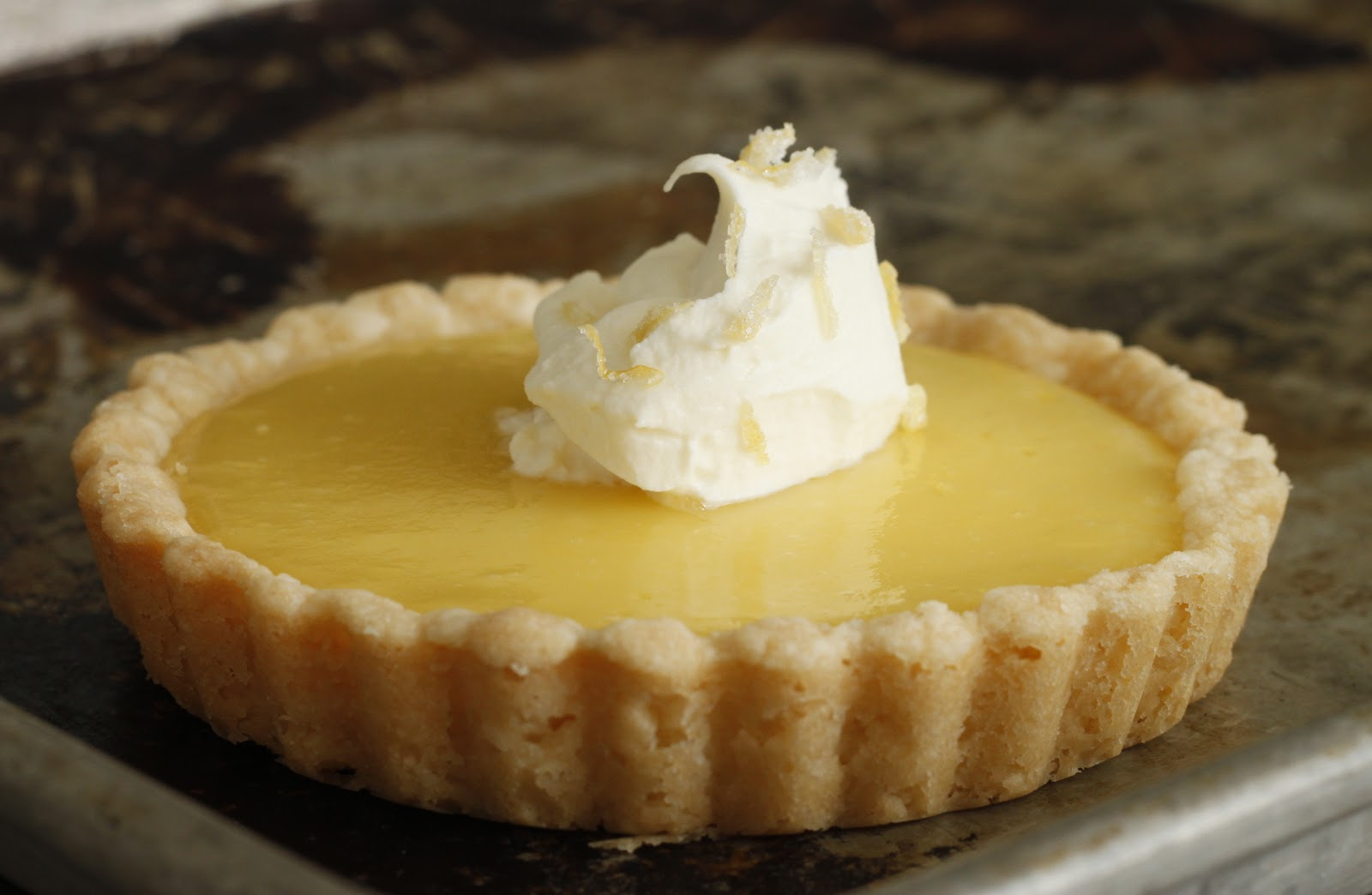 franish nonspeaker: Lemon-Honey Tart with Salted Shortbread Crust
