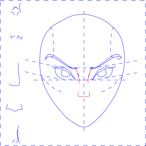 Woman's Face - Draw Nose