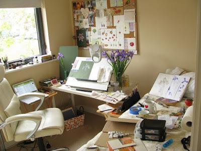 Messy artist's studio Shevaun Doherty