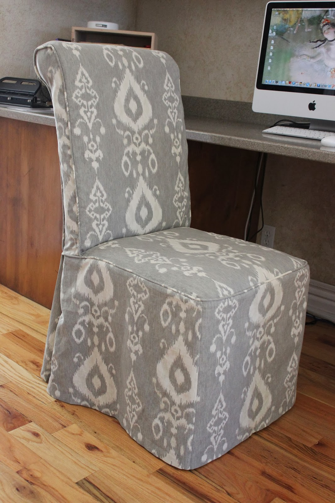 fabric parson chairs with skirt. custom slipcovers by shelley fabric parson chairs with skirt r