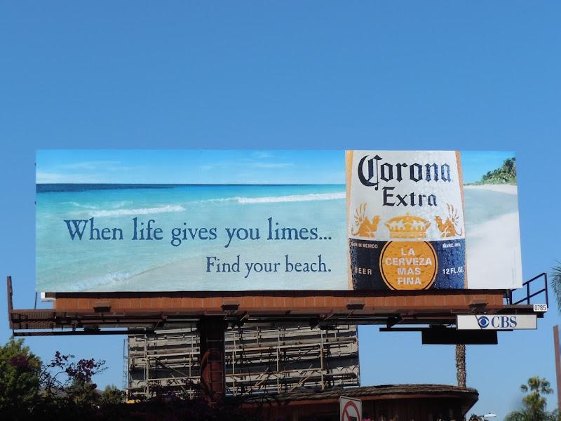 Corona Extra limes billboard