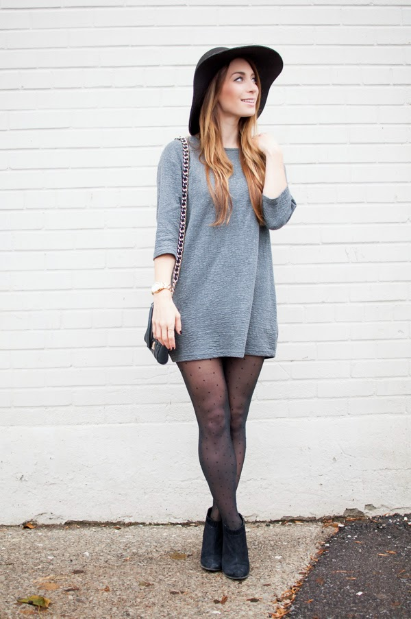 OOTD - Topshop Grey Tunic | La Petite Noob | A Toronto-Based Fashion and Lifestyle Blog.