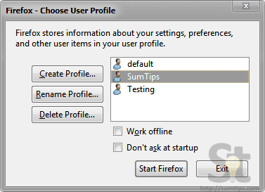 Create Mozilla Firefox Desktop Shortcuts to Specific Profiles