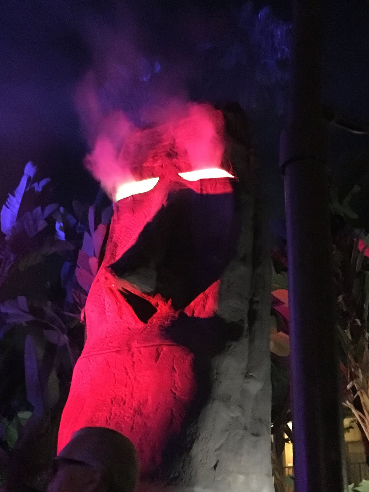 The mouth of this smoking' moai is a bar.