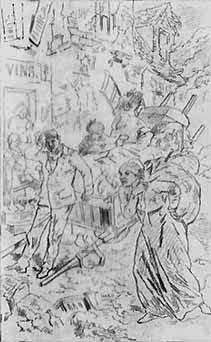Famille fuyant la rive gauche (Gustave Doré)