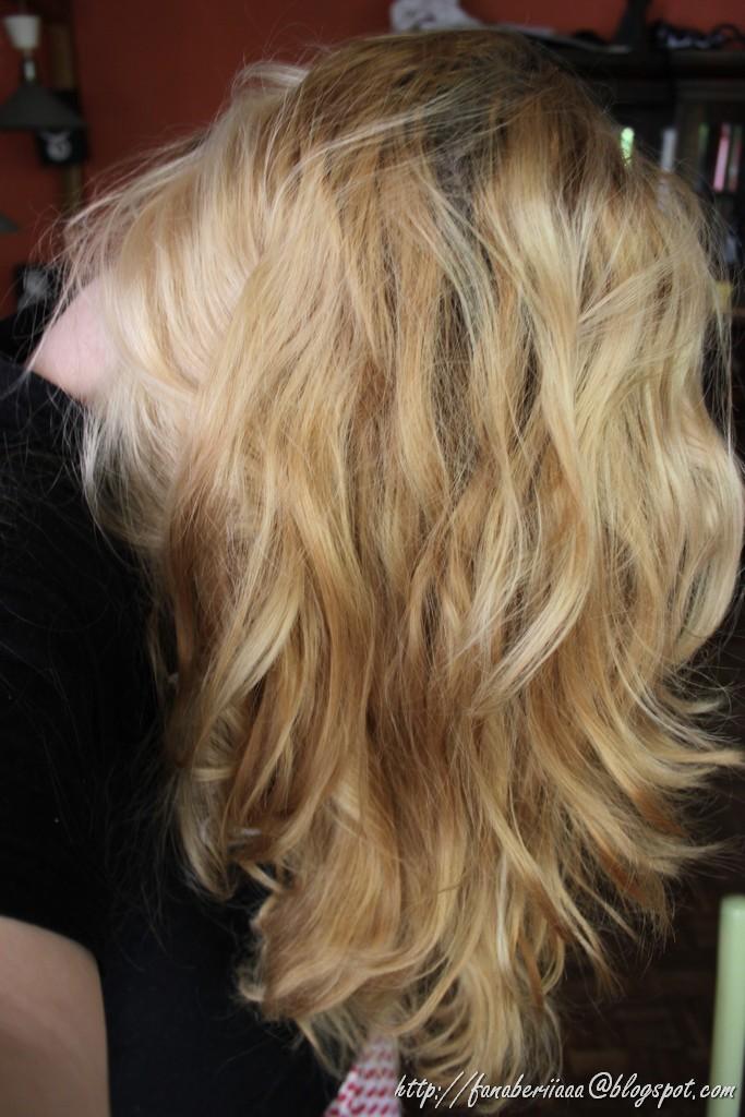 jasny perłowy blond przed, z brązu na blond