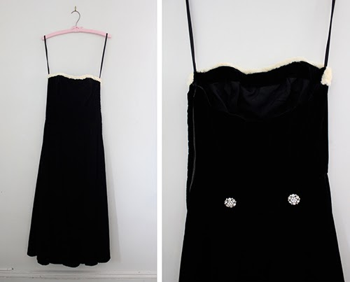 1960s vintage velvet dress new to the cut and chic vintage shop