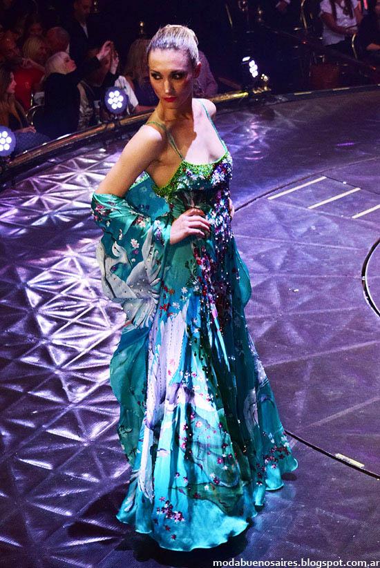 Roberto Piazza vestidos de fiesta otoño invierno 2015. Moda otoño invierno 2015. Desfile 40 Años en la Moda.