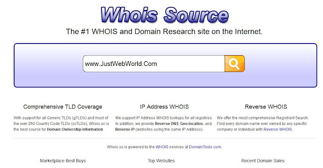Whois.sc Domain Research Tool