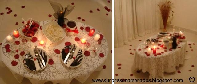 jantar especial para o namorado