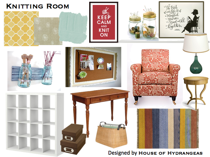 Knitting Roomfi : Knitting room design board