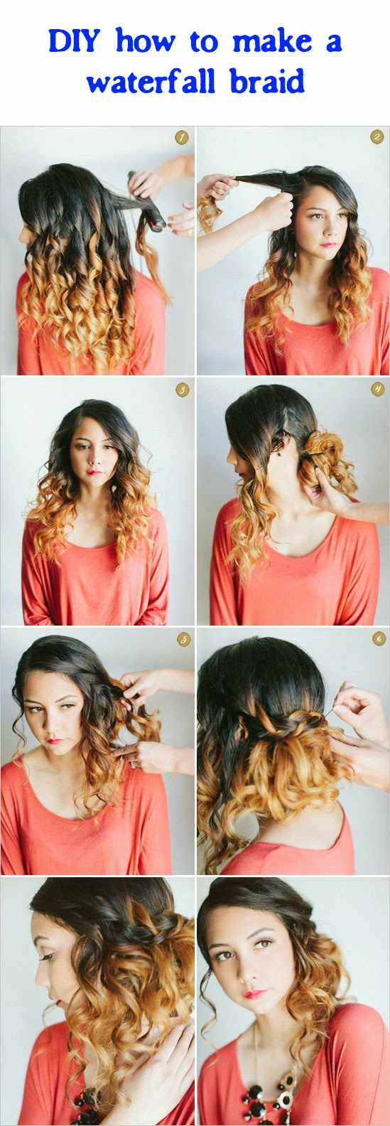 DIY how to make a waterfall braid