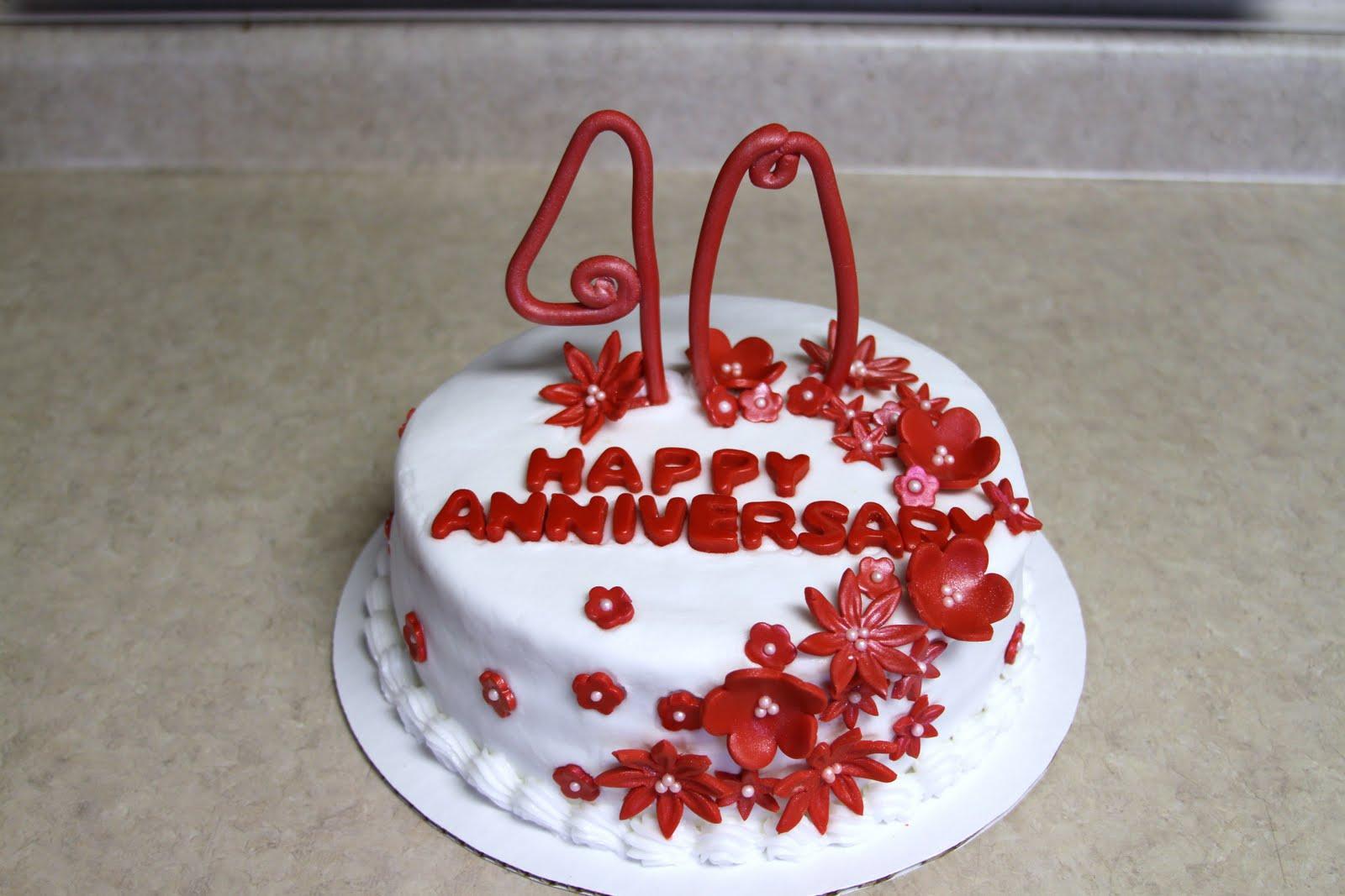 Michele robinson cakes th anniversary cake