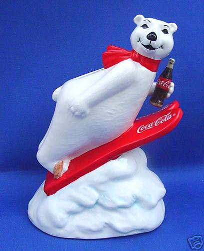 1995 Enesco COCA COLA POLAR BEAR BANK