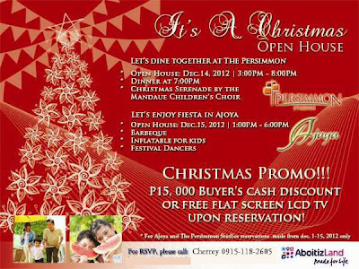 Avail the christmas discount promo of The Persimmon and Ajoya. Reserve a unit now!