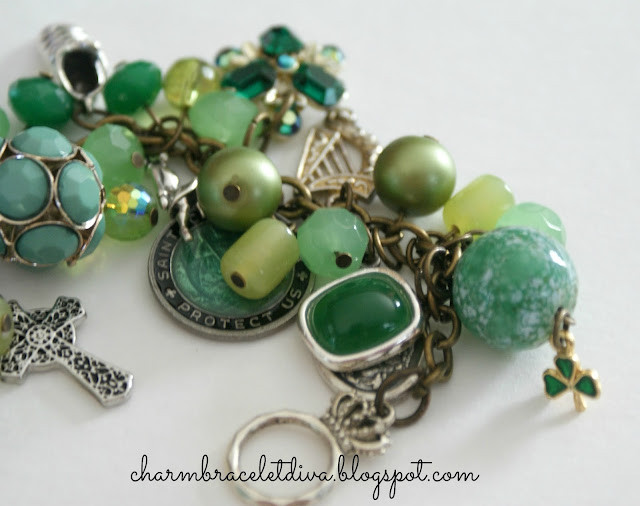 Vintage Repurposed Irish Dance Charm Bracelet