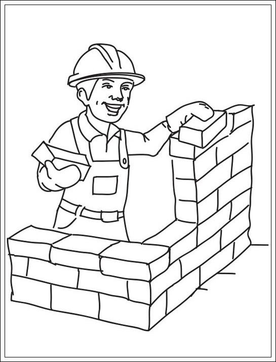 Bauarbeiter ausmalbilder  Baustelle zum Ausdrucken