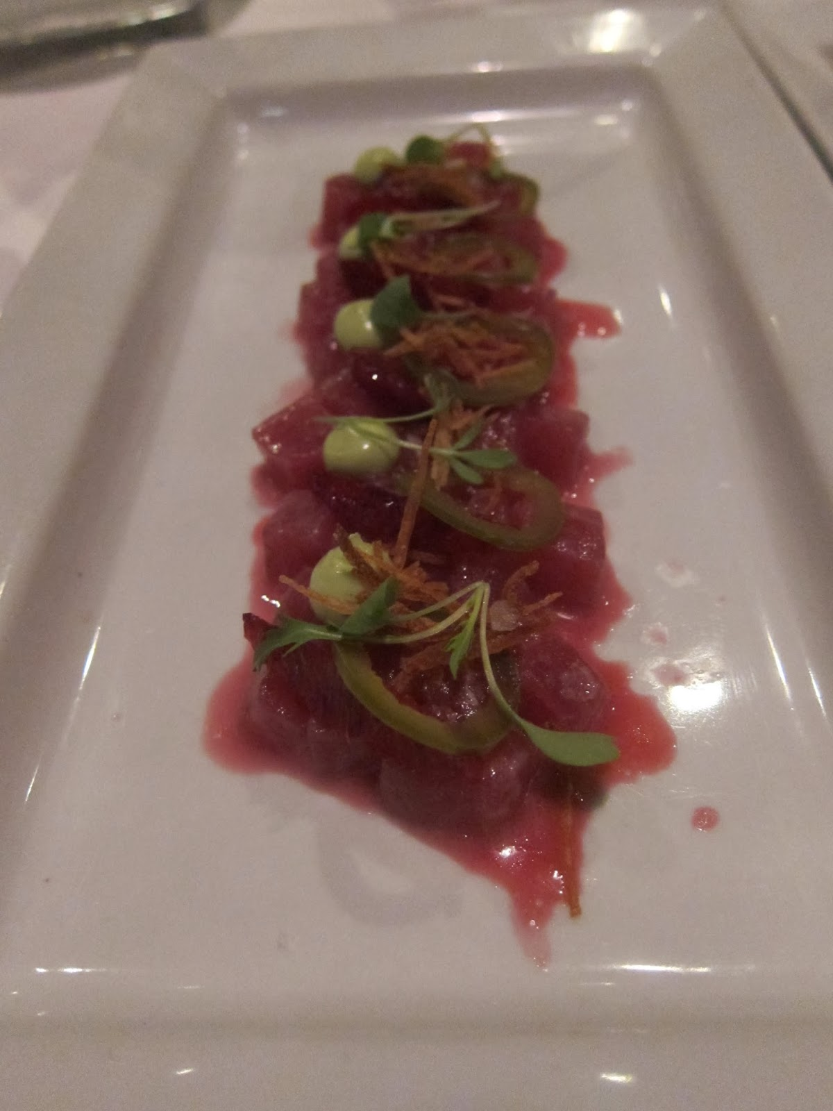 Ahi Tuna Ceviche at FISH Restaurant in Marlborough, MA | The Economical Eater