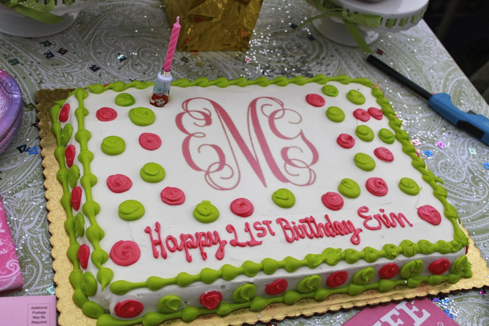 Sugar Snap Pearls Archive Monogram Monday Let Them Eat Cake - Monogram birthday cakes