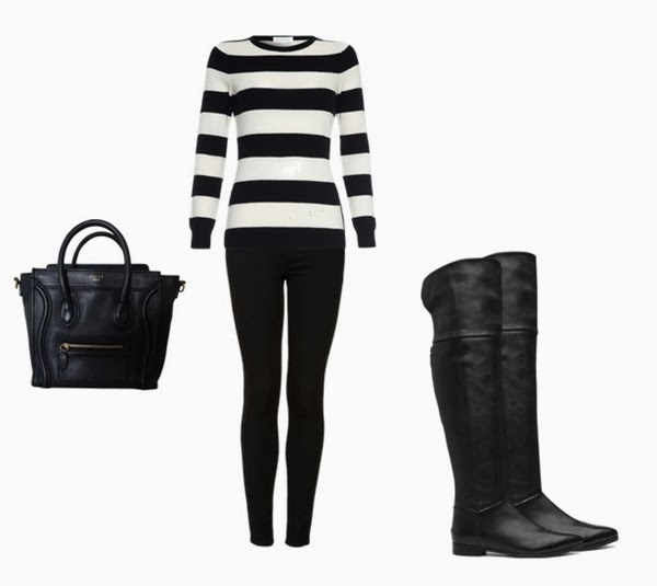 combinar Over the knee boots