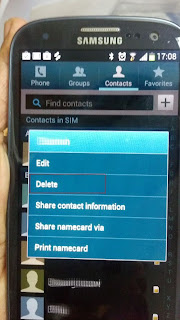 Inside Galaxy: Samsung Galaxy S3: How to Delete SIM Card Contact in