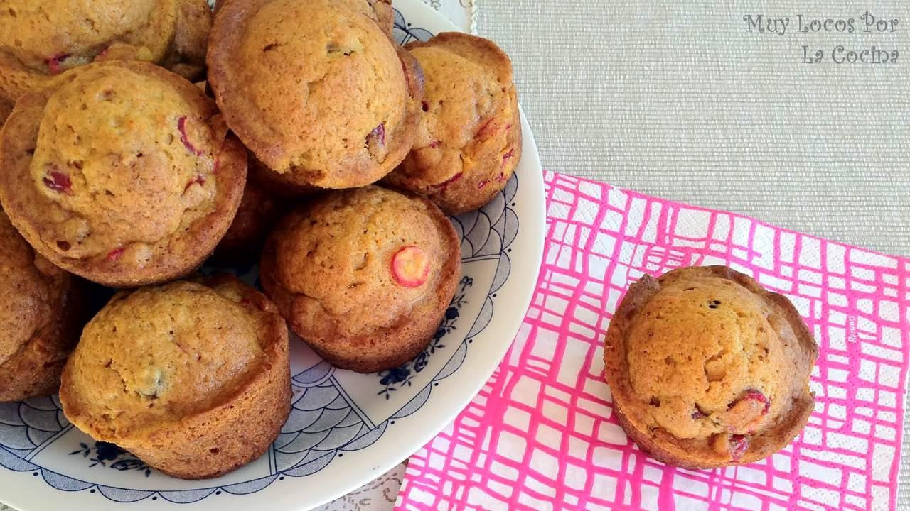 Muffins de Calabaza, Naranja y Arándanos Rojos