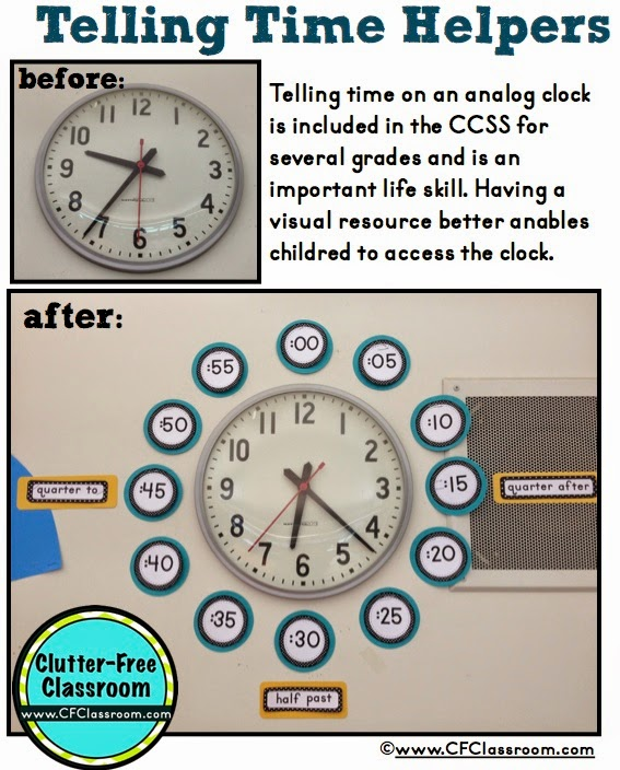 Bathroom set bundles - Clutter Free Classroom Telling Time Helpers Around The