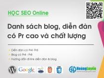 Share danh sách diễn đàn đi Link có PR cao: GOV, Edu DA PA chất lượng
