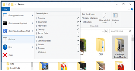 Get help with file explorer in windows 10