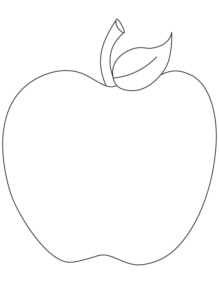 Free Coloring Pages Of An Apple : Free apple fruit coloring sheet