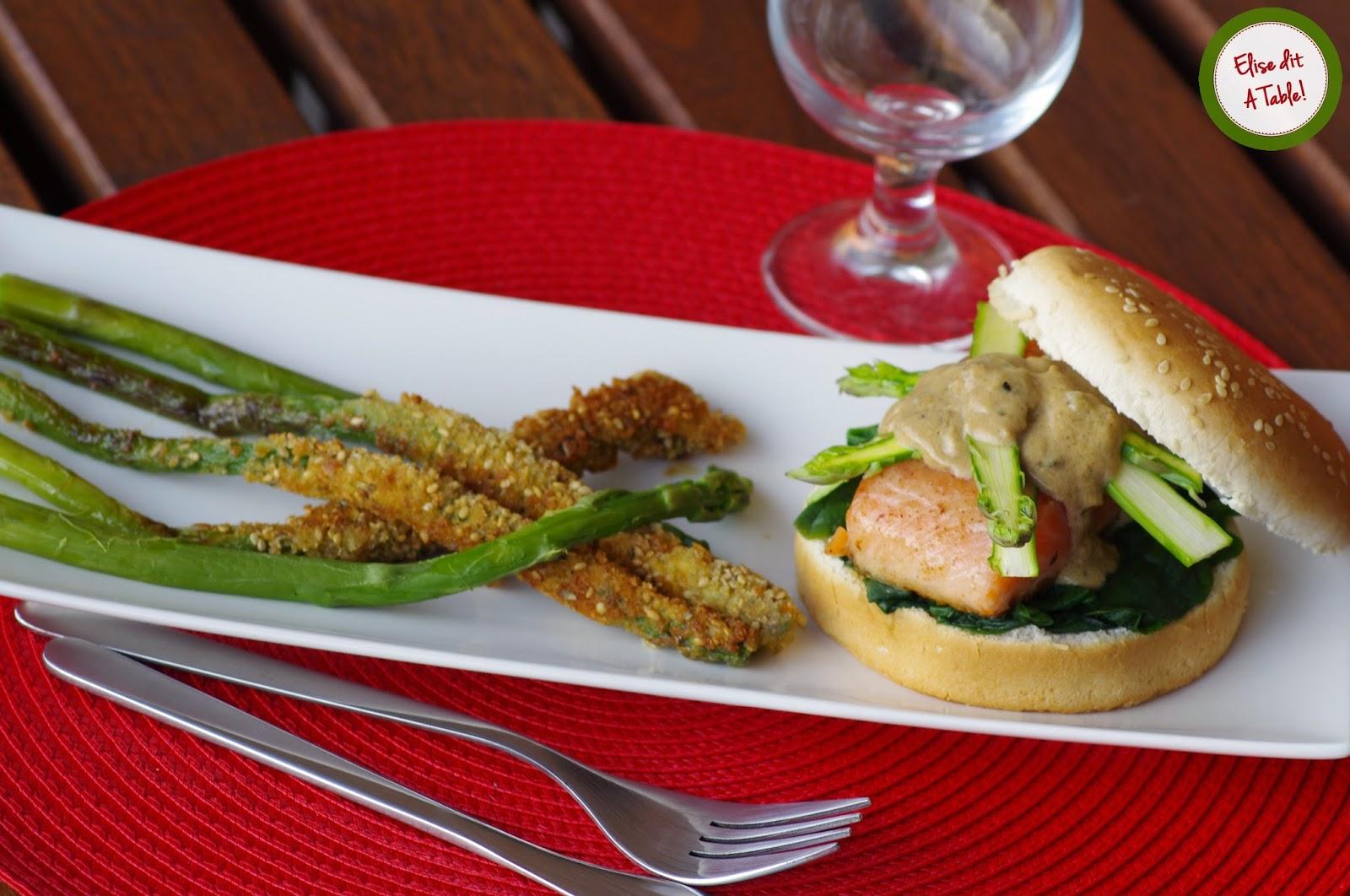 recette Hamburger saumon asperges
