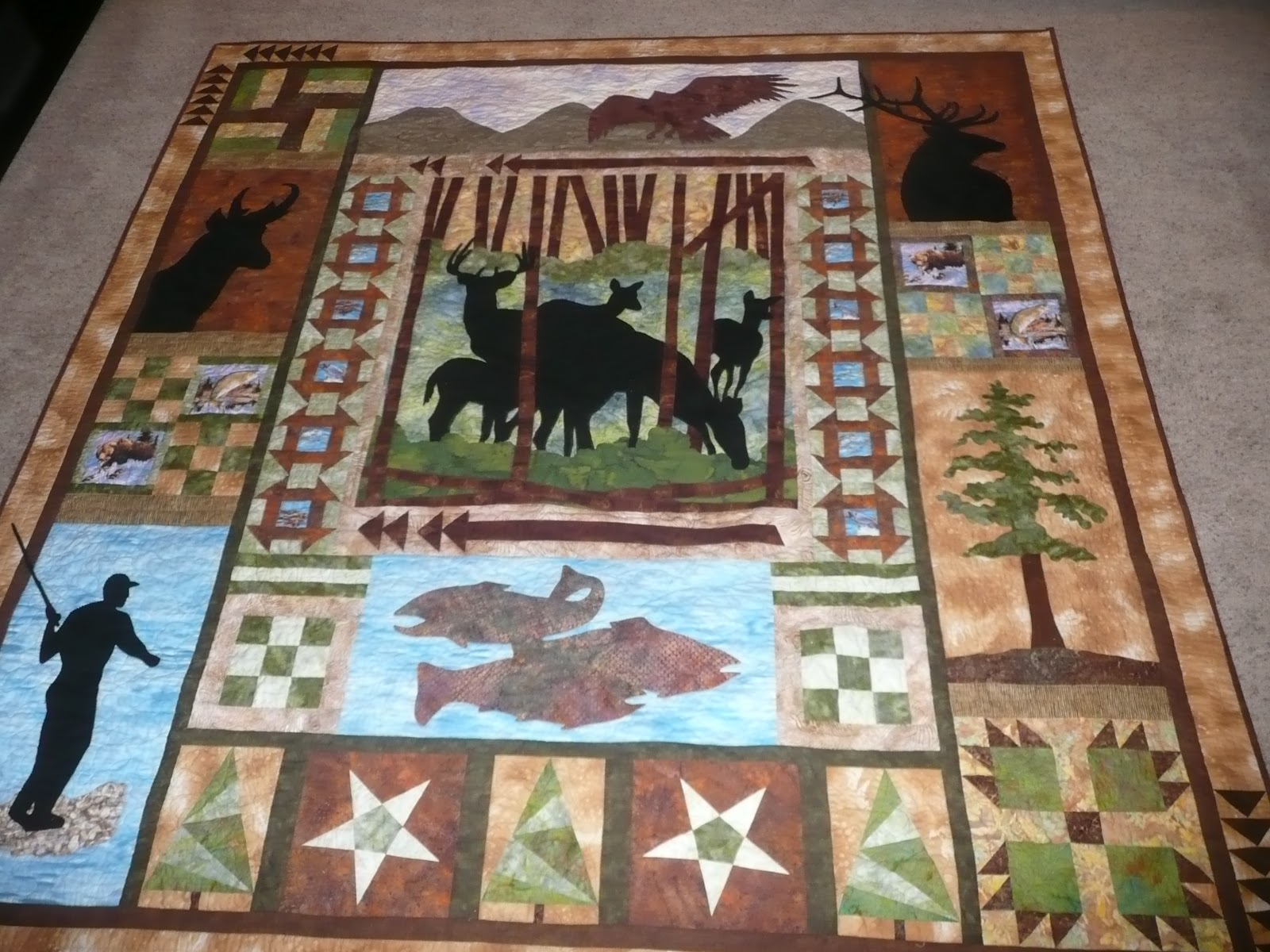 Wildlife Quilts On Pinterest Camo Quilt Moose And Quilting