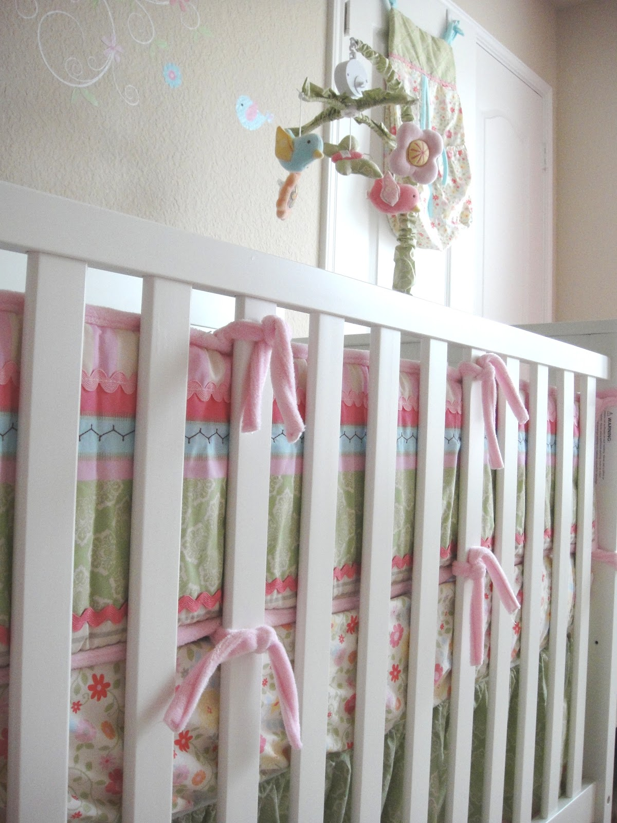 Inspirational Don ut you just love the colors The blues pinks and greens blend so well together It us dainty sweet and pretty Perfect for a baby girl