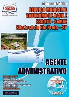 apostila PDF Concurso do SeMAE - Prefeitura Municipal de São José do Rio Preto