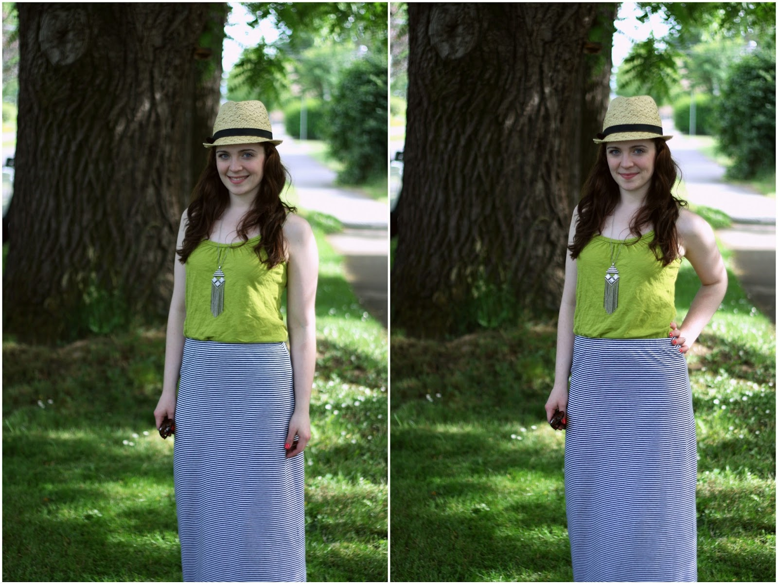 how to wear a maxi skirt and not look fat