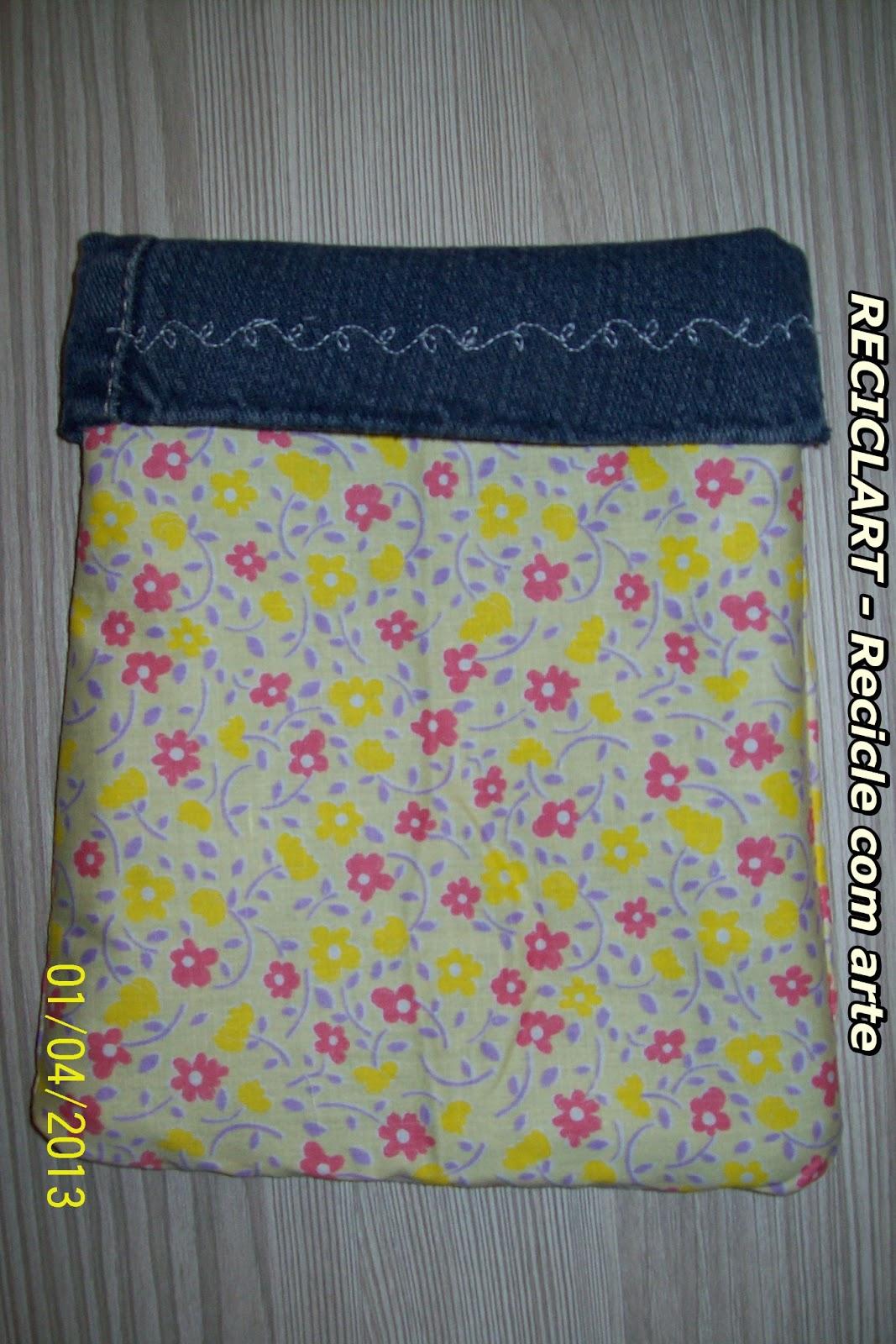 Reciclart Porta Treco De Jeans Usado