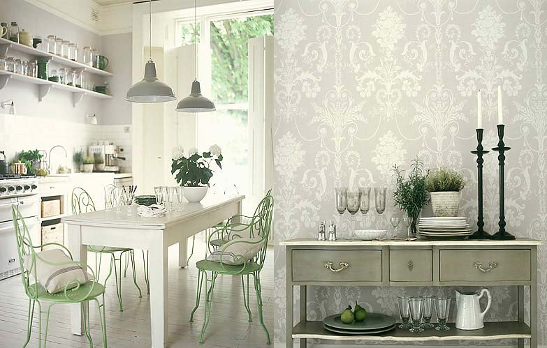 Buy wallpapers kitchen wallpaper for Modern kitchen wallpaper ideas