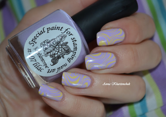 MeMeMe 88 Lyrical и стемпинг с El Corazon Kaleidoscope Special paint for stamping nail art # st-07 lilac  и Born Pretty Store BP –50