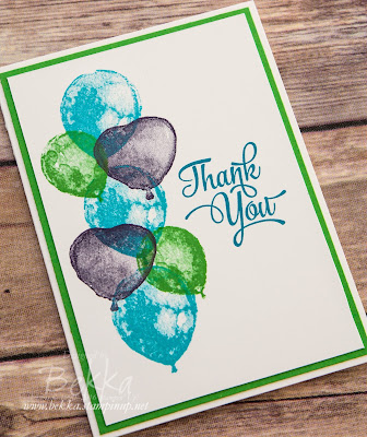Bright Balloon Builders Thank You Card made with supplies from Stampin' Up! UK which you can get here