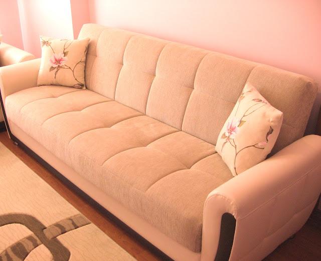 kanepe yastığı pembe çiçekli