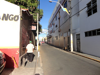 Rua Alencar Peixoto no Centro de Juazeiro do Norte.
